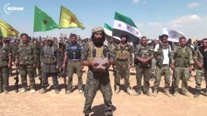 FSA and YPG units announce the formation of the Burkan Al-Firat coalition to combat ISIS and defend Kobanê.