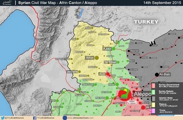 Aleppo map who controls what