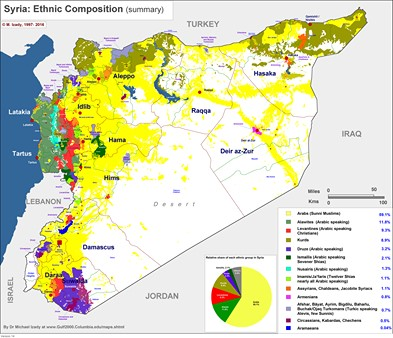 Syria demographic map